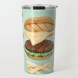 Burger Mandala Travel Mug