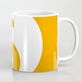 Yin & Yang (White & Orange) Coffee Mug