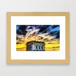 Berlin Sunrise Landscape Painting by Jeanpaul Ferro Framed Art Print