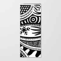 zentangle Canvas Prints featuring Zentangle by Wealie