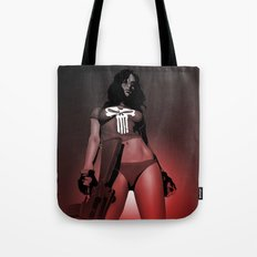 Lady Punisher Tote Bag