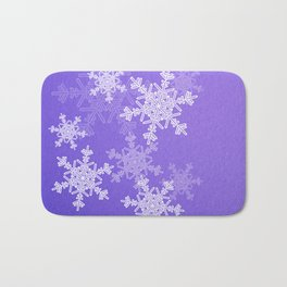Dark Blue snowflakes Bath Mat