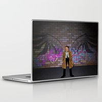 castiel Laptop & iPad Skins featuring CASTIEL by Chris Thompson, ThompsonArts.com