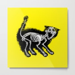 The Purrfect Scare Metal Print
