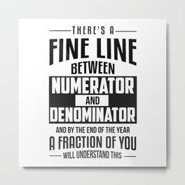 Maths Metal Print