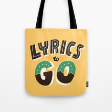 Lyrics to Go Tote Bag