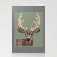 antlers Stationery Cards featuring Antlers by ArtLovePassion