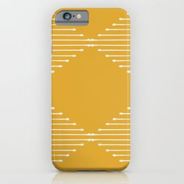 Geo (Yellow) iPhone Case