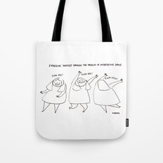 Interpretive dance Tote Bag