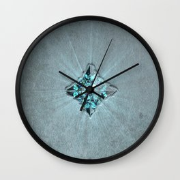 Fantasy Leather Book with Jewel Wall Clock