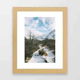 The trail to Lago Torre Framed Art Print