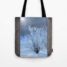 Hoar Frost on the Lilac Bush Tote Bag