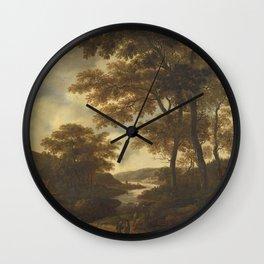 Pieter Jansz van Asch - Wooded Landscape Wall Clock