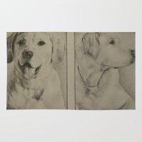 labrador Area & Throw Rugs featuring Labrador  by JMck Artwork