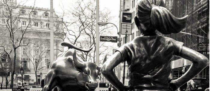 Fearless Girl & Bull - NYC Coffee Mug