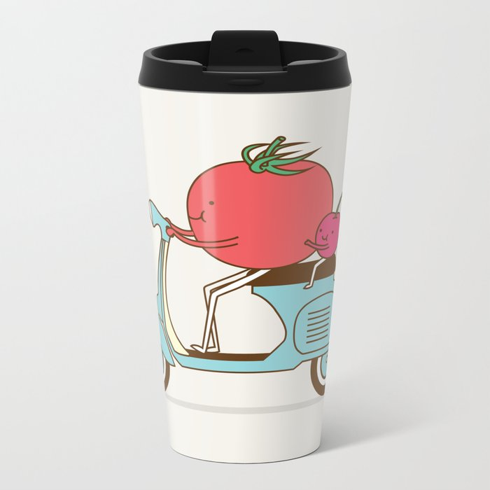Cherry Tomato Metal Travel Mug