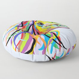 Horse of a Different Color Floor Pillow