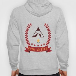 Tent and Fire Hoody