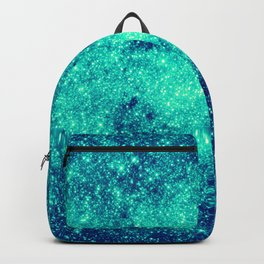Teal Turquoise GalaXy. Sparkle Stars Backpack