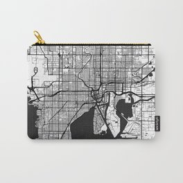 Tampa Map Gray Carry-All Pouch