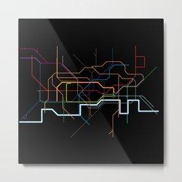 London Tube Map Metal Print