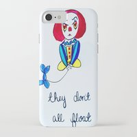 pennywise iPhone & iPod Cases featuring Pessimistic Pennywise by Ashley Petersen