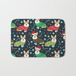 Corgi christmas sweater ugly sweater party with welsh corgis dog lovers dream christmas Bath Mat