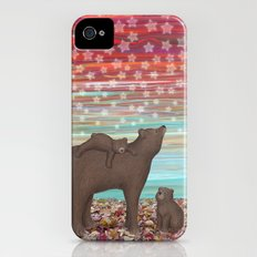 brown bears and stars Slim Case iPhone (4, 4s)