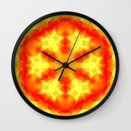 Fire Kaleidoscope 2 Wall Clock