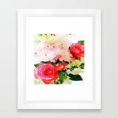 Garden Roses Watercolor Framed Art Print