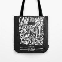 wine Tote Bags featuring Wine by Matt Edward