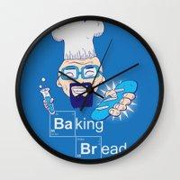 baking Wall Clocks featuring Baking Bread by DarkChoocoolat