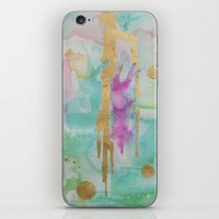 macaroon iPhone & iPod Skins featuring Mint Macaroon by Limezinnias Design