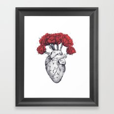 Heart cactus Framed Art Print
