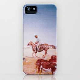 Rousting the Cattle, AUSTRALIA         by Kay Lipton iPhone Case