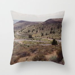 Surreal Road Throw Pillow