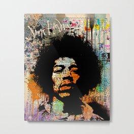 Jimi Hendrix on dictionary Metal Print