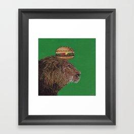 Lion Burger, the BurgerKING Framed Art Print