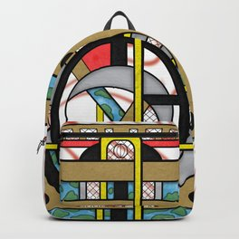 Switchplate - Surreal Geometric Abstract Expressionism Backpack