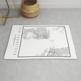 San Francisco California Street Map Rug