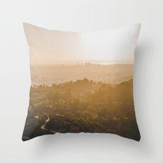 Golden Hour - Los Angeles, California Throw Pillow