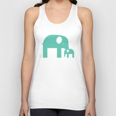 Blue Elephants Unisex Tank Top