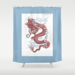 Treasure Dragon Shower Curtain