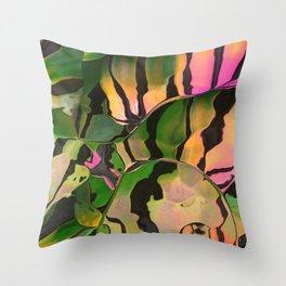 Vegetarian Zebra Throw Pillow