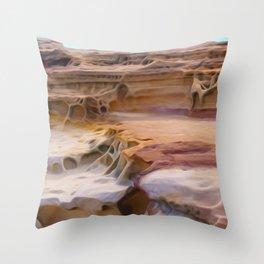 Undulating landscape 010 Throw Pillow