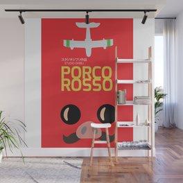 Porco Rosso - Hayao Miyazaki minimalist movie poster - Studio Ghibli, japanese animated film Wall Mural
