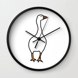 White Goose Wall Clock