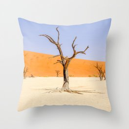 Deadvlei Namibia Desert Dead Trees Throw Pillow