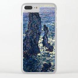 Claude Monet - The Pyramids, Cliffs at Belle-Ile Clear iPhone Case