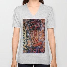 raptors 4,champion,basketball,gold,poster,wall art,2019,winners,NBA,finals,toronto,canada,painting Unisex V-Neck